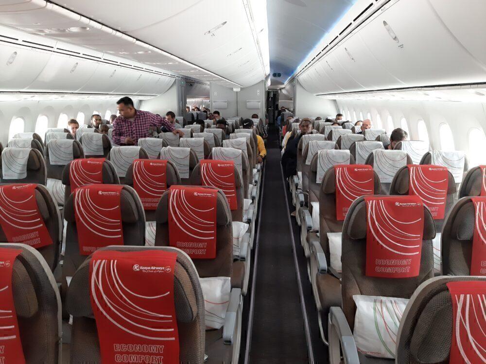 Kenya Airways cabin