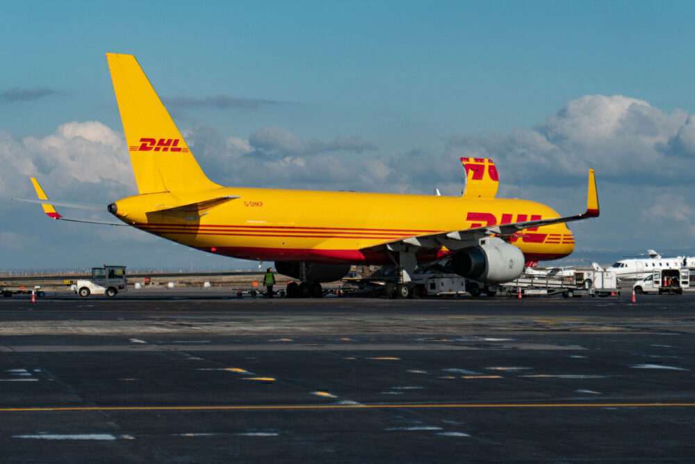 DHL Air Boeing 757 Cargo Plane At Thessaloniki Airport