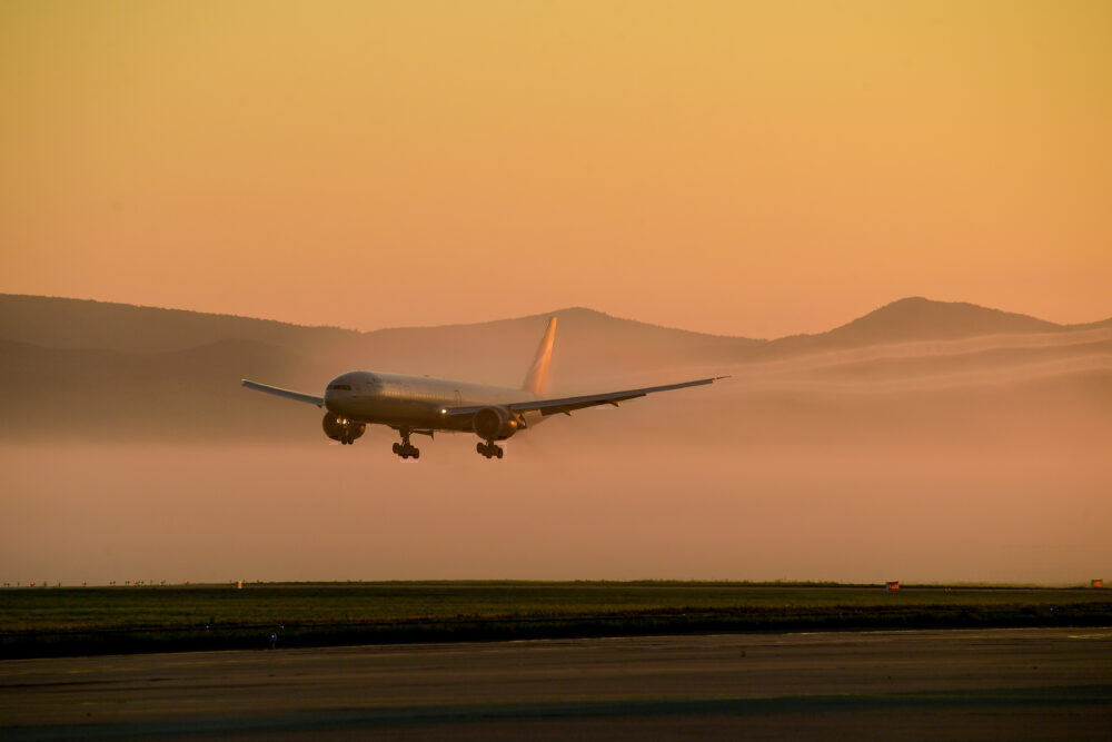 Aeroflot 777 Silhouette