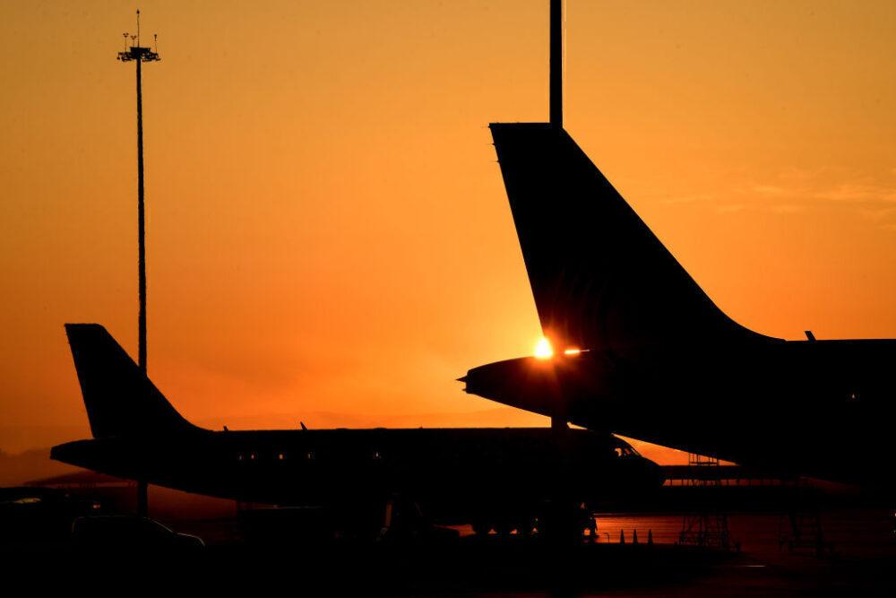 Airport Sunrise Getty