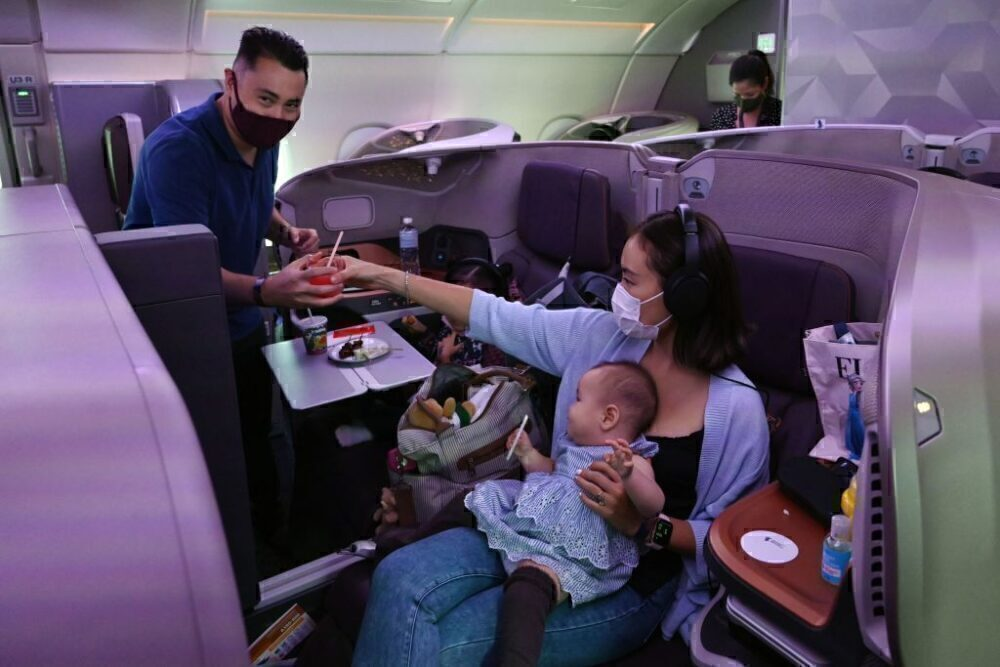 Family On Singapore Airlines A380