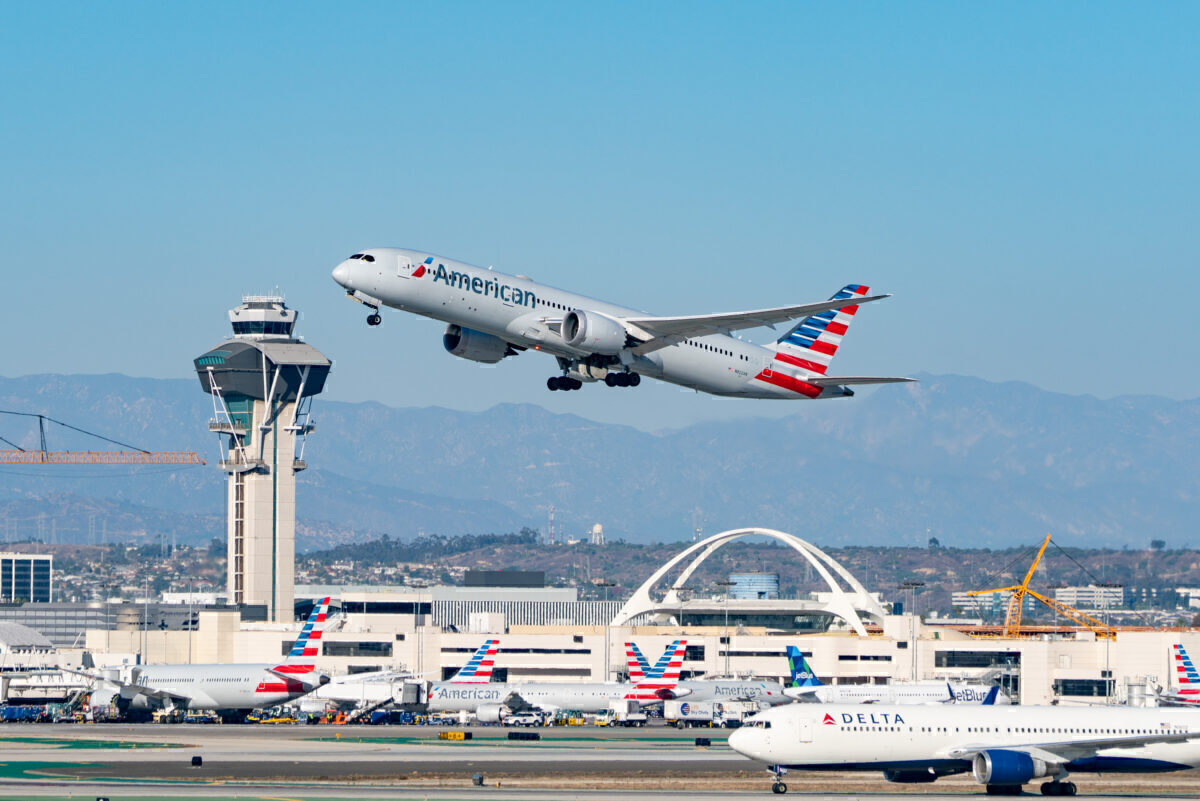 LAX Delta Air Lines and American Airlines