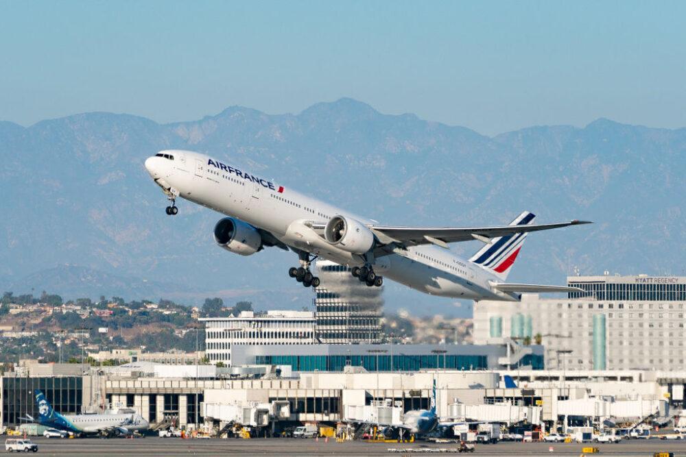 Air France Boeing 777 Los Angeles Getty