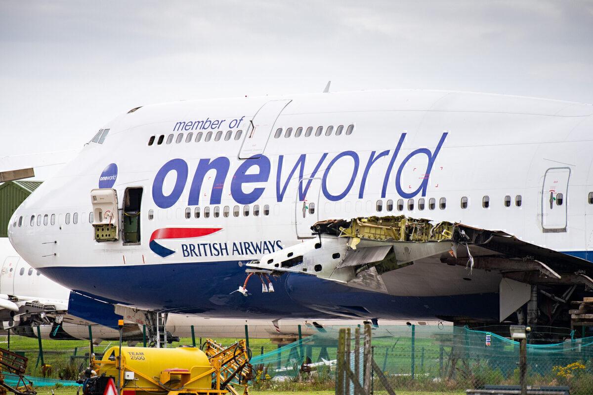British Airways 747 scrapped