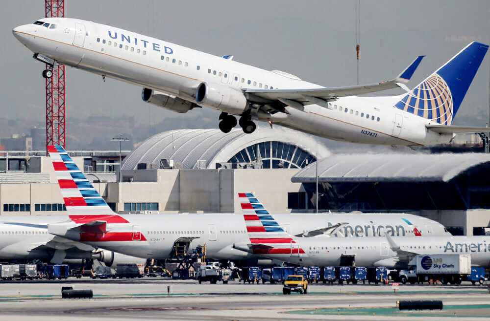 American Airlines United Airlines LAX