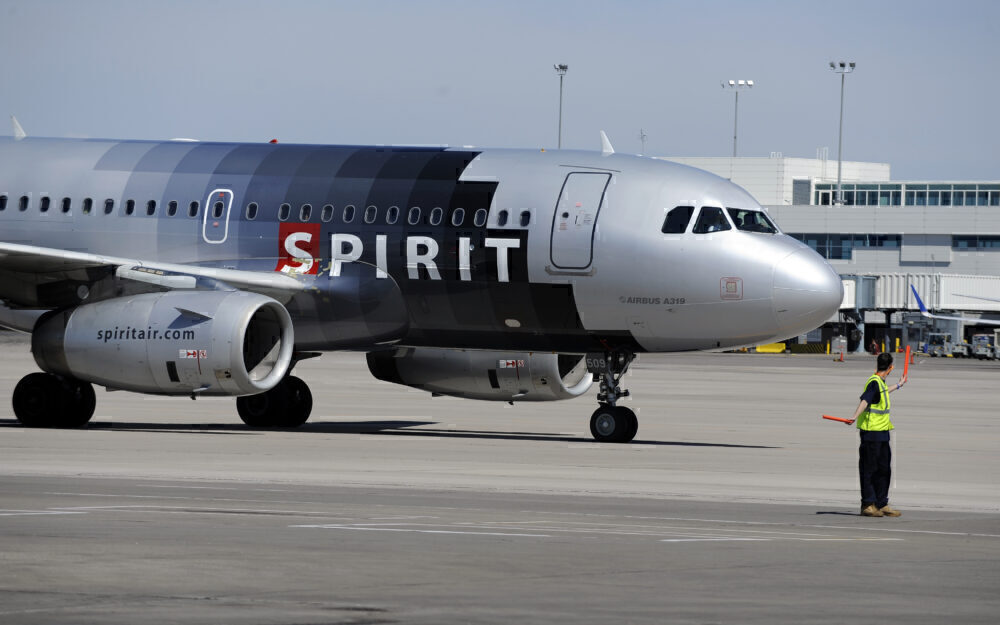 Spirit Airlines Old Livery A319