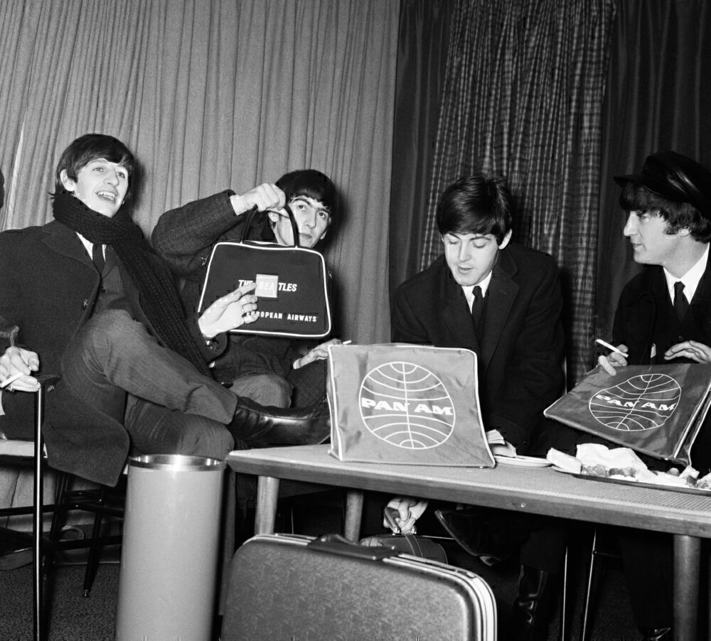 The Beatles photoall at London Heathrow Airport, 7th February 1964.