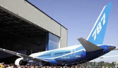 The new Boeing 787 Dreamliner appears to