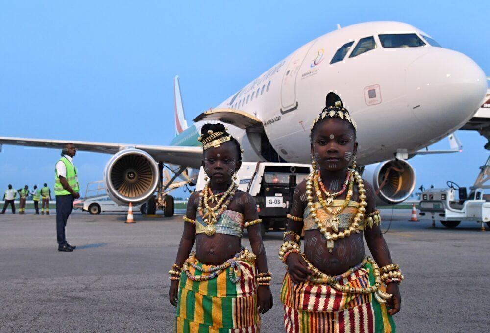 Air Côte d'Ivoire welcome ceremony
