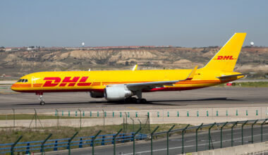 DHL European air Transport Boeing 757-200 freighter with