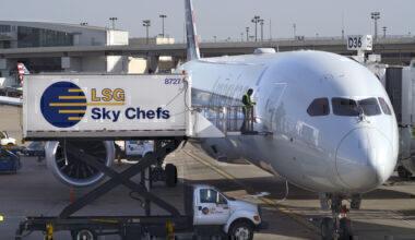 Aircraft at gate