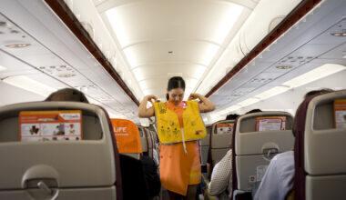 Thai Smile cabin crew life vest