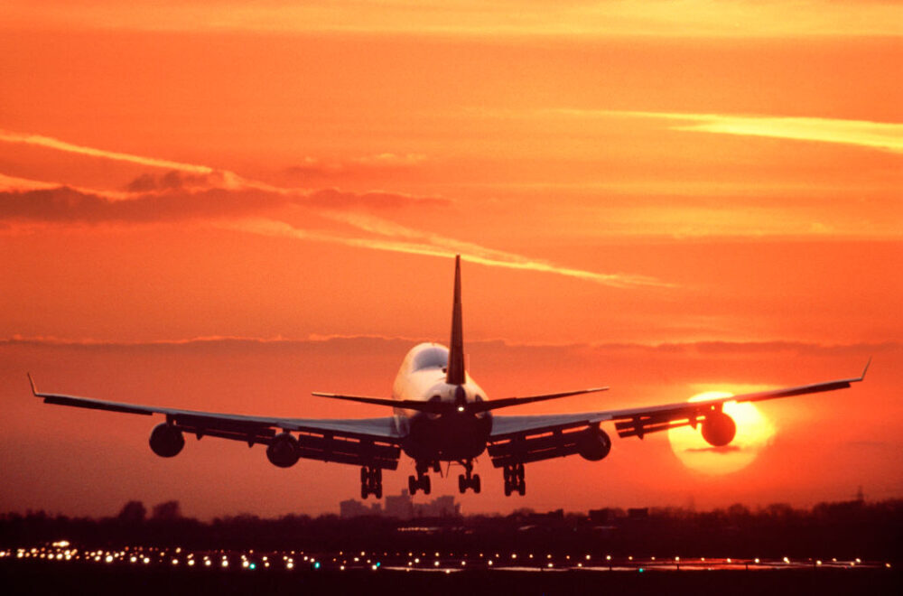 Boeing 747 Heathrow Sunset Getty