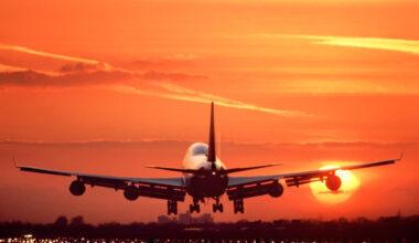 Boeing 747 Heathrow Sunset Getty