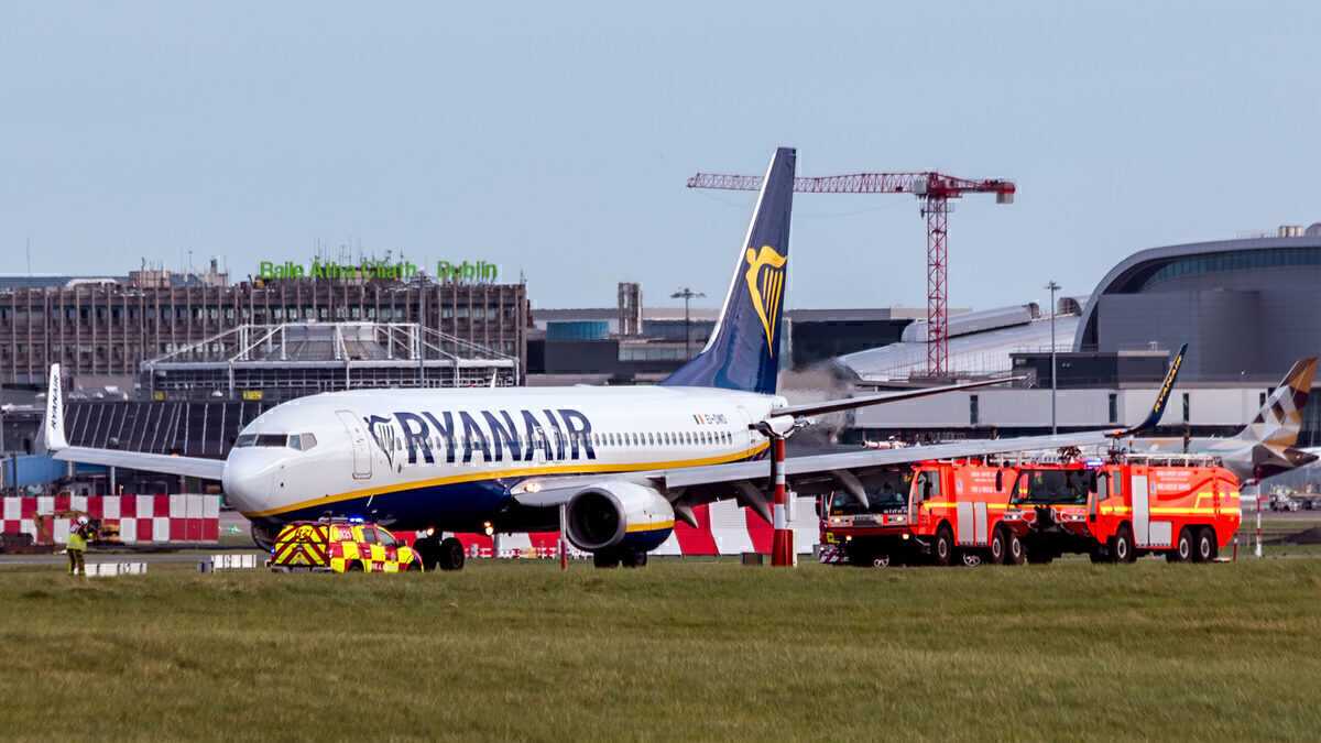 Ryanair, Fire Indication, Boeing 737