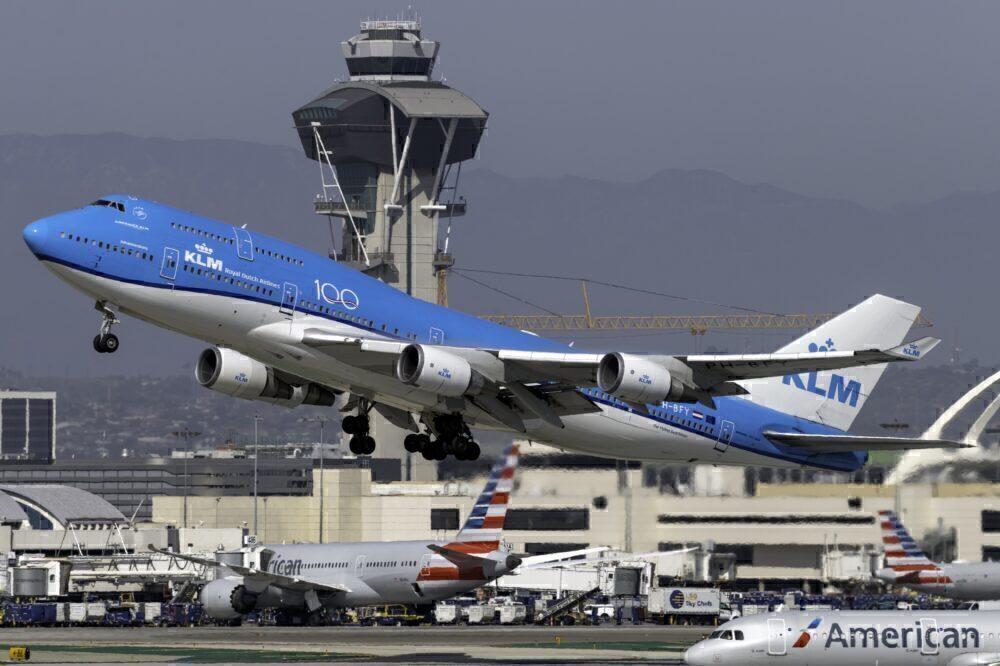 KLM Boeing 747-400M Combi Los Angeles LAX