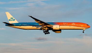 KLM Boeing 777-300ER Orange Pride