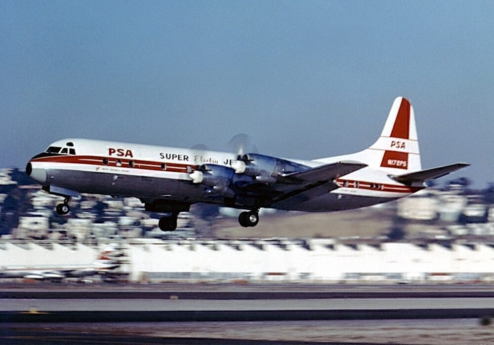 Pacific Southwest Airlines Lockheed Electra