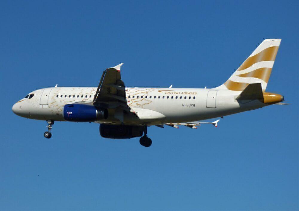 British Airways Airbus A319 Dove