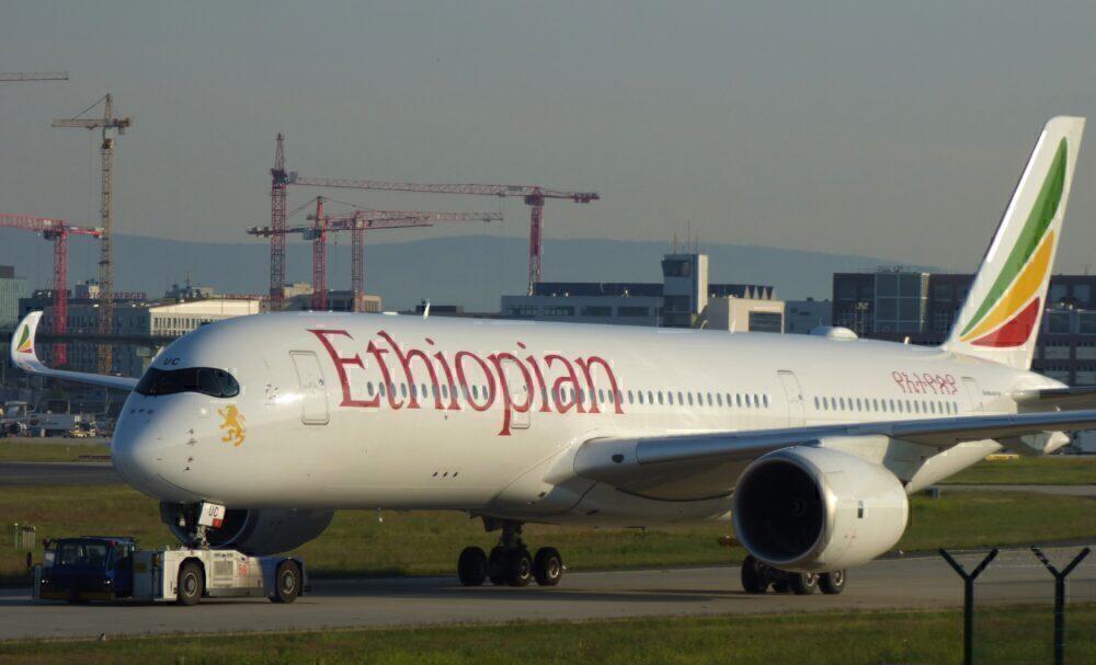 Ethiopian Airbus A350 Frankfurt