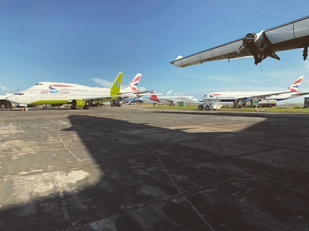 Plane Reclaimers yard