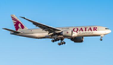 Qatar Airways Cargo Boeing 777F New York JFK