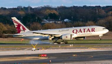 Qatar Cargo Boeing 777F New York JFK