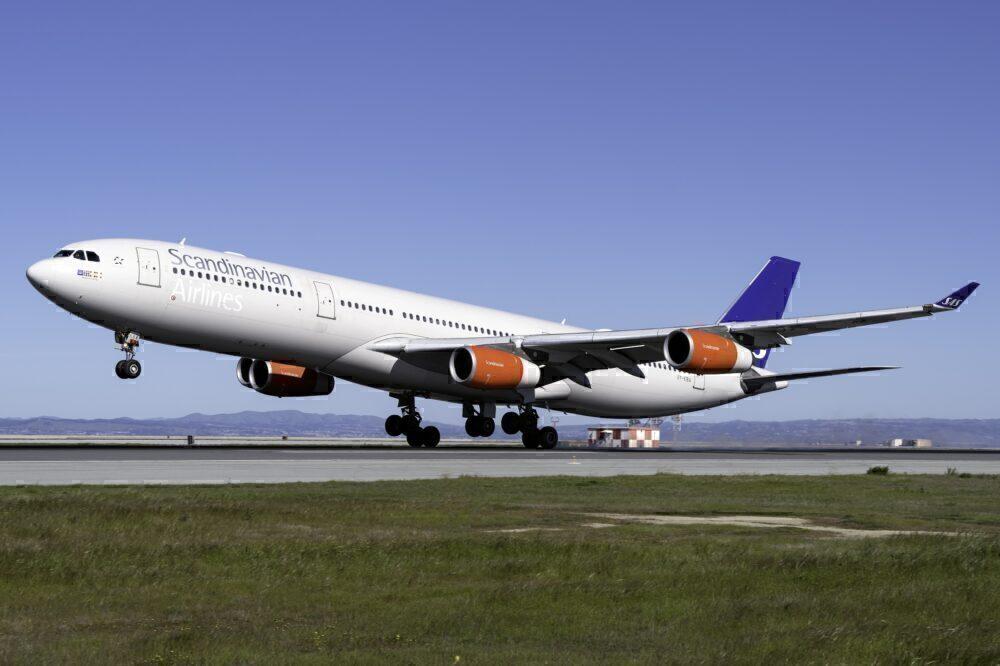 SAS Airbus A340 San Francisco