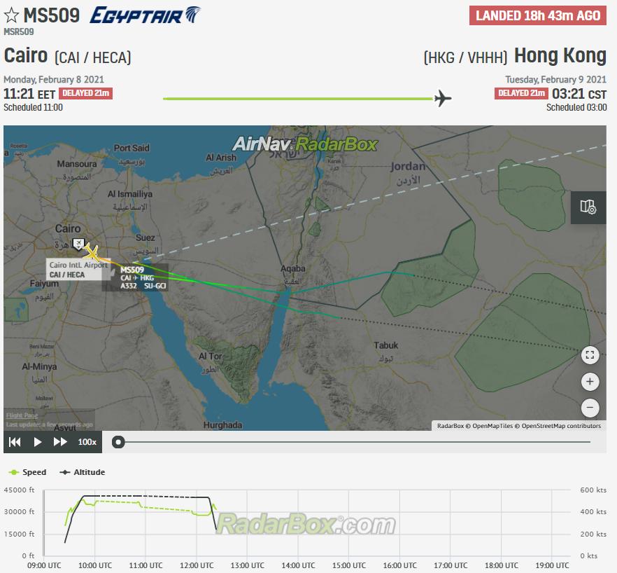 EgyptAir flight Cairo RadarBox