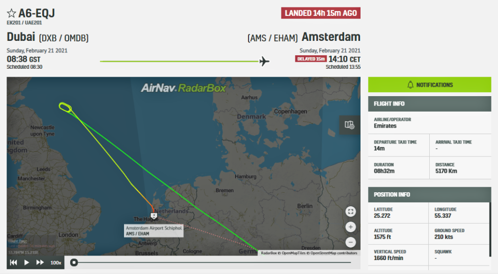 Emirates-boeing-777-amsterdam-diversion