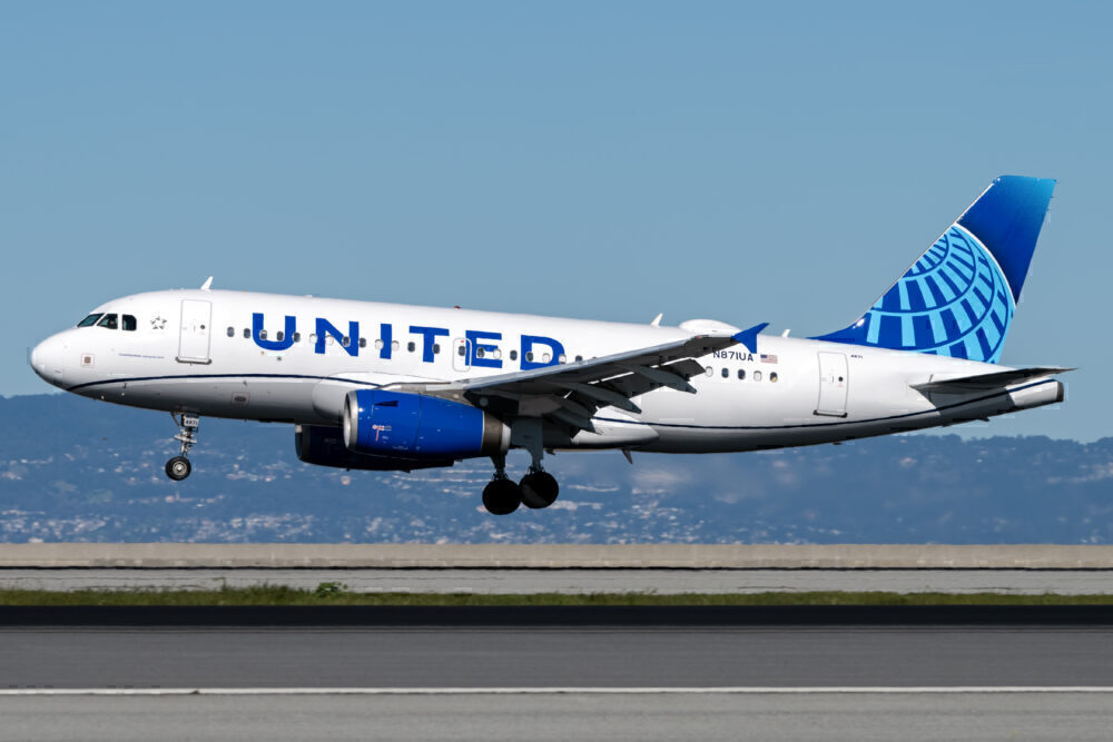 United Airbus A319 San Francisco