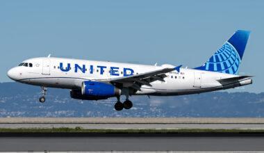 United Airbus A319 San Francisco