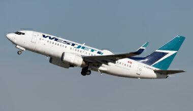 WestJet 737 taking off