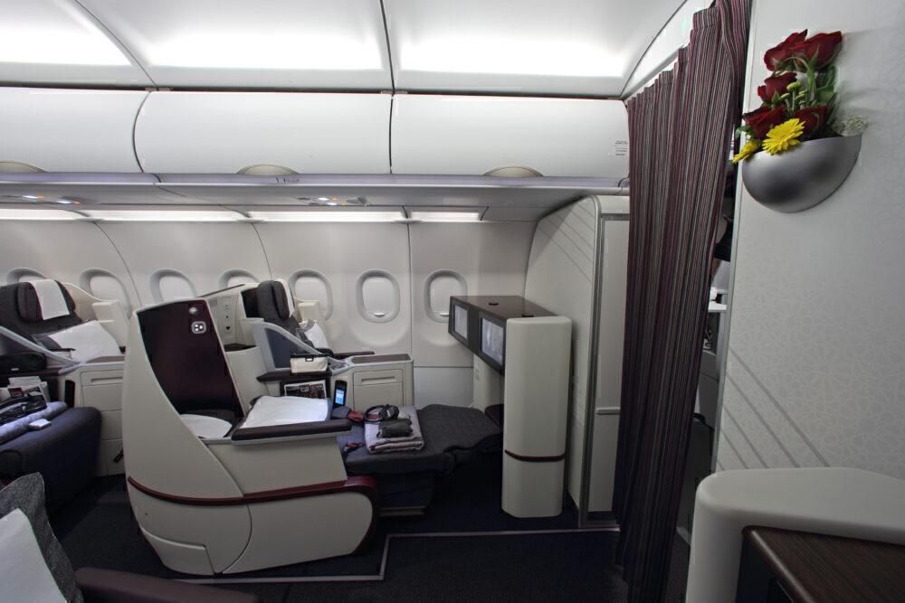 Qatar Airways A320 Business Class