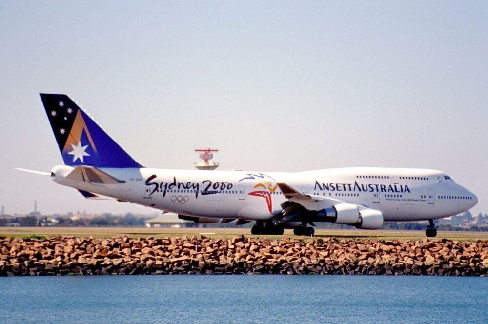 Ansett Boeing 747