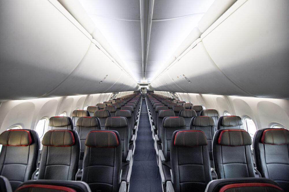Interior del 737 MAX americano