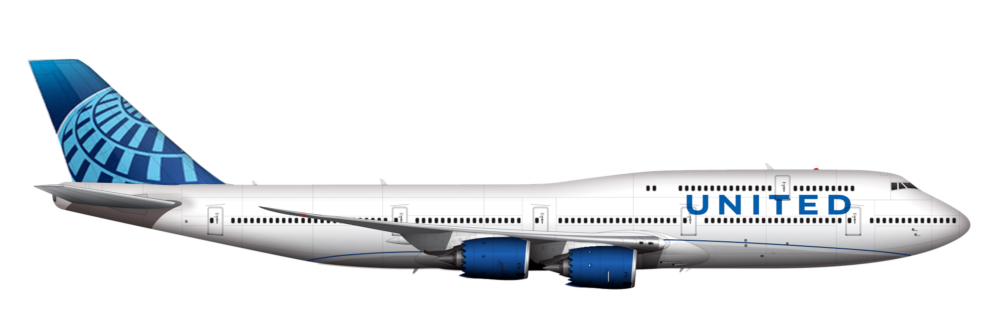 United Airlines Boeing 747-8