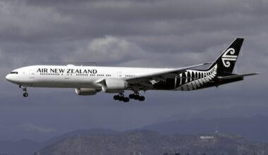 Air NZ Boeing 777 LAX