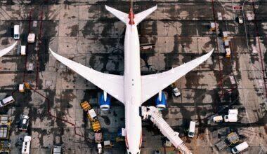 British Airways Boeing 787 seen from above