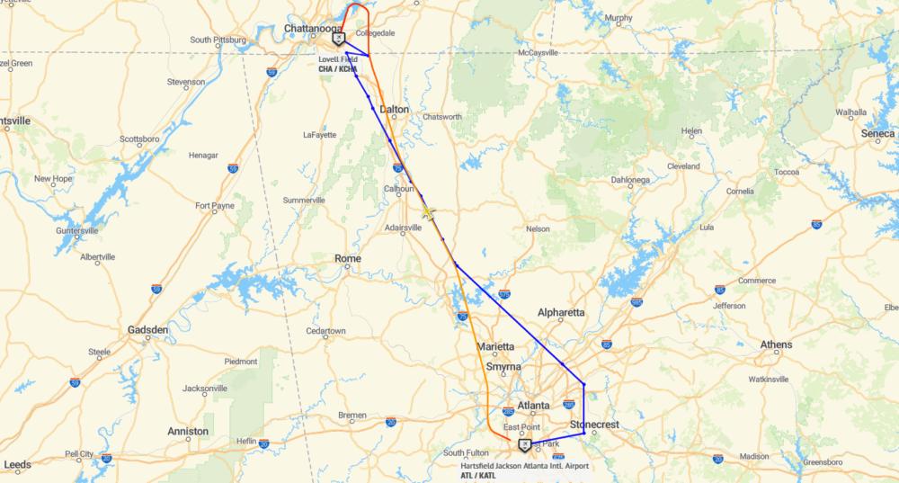 DL4757 Flightpath 18Mar2021