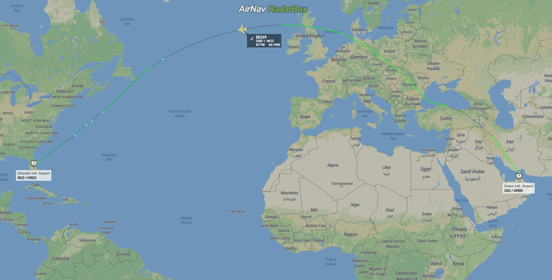 Emirates, Boeing 777, Orlando, Florida