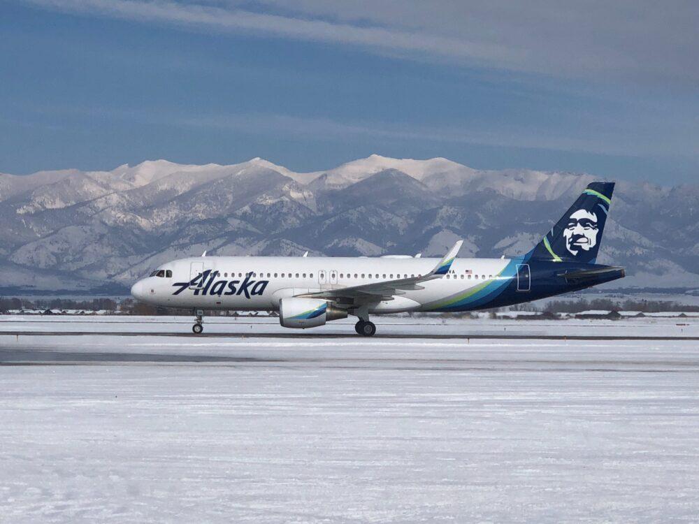 Alaska Airbus A320 Bozeman
