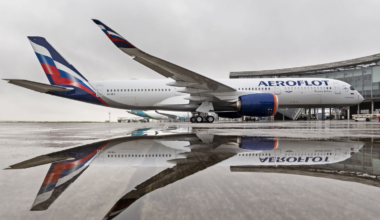 First Aeroflot A350-900 – Outside delivery ceremony