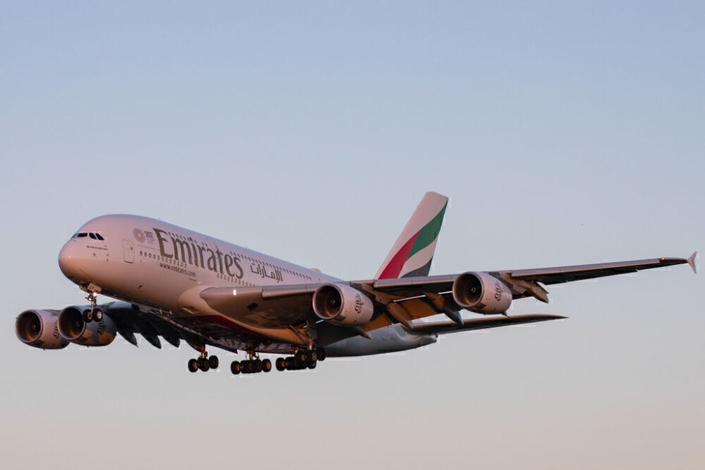 Emirates Airbus A380 Getty