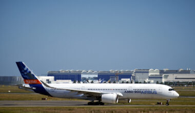 Airbus Workers Protest Against The Several Thousand Job Cuts