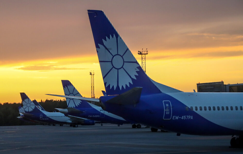 Belavia Belarusian Airlines planes at Minsk