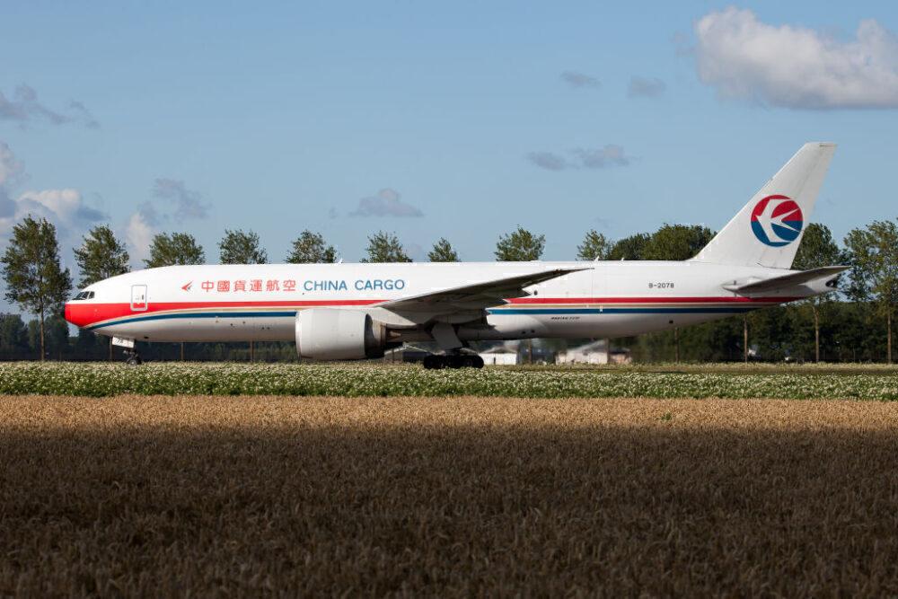 China Cargo Airlines Boeing 777F Ámsterdam Getty