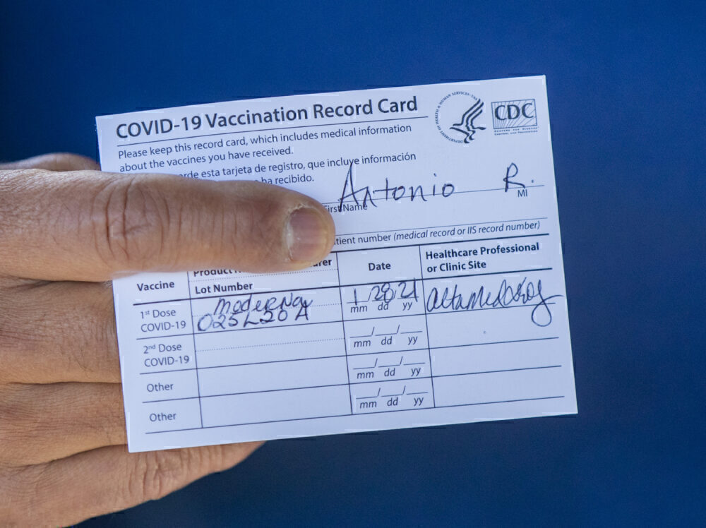 COVID vaccination certificate fraud