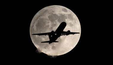 Lunar Eclipse Plane Moon China Getty