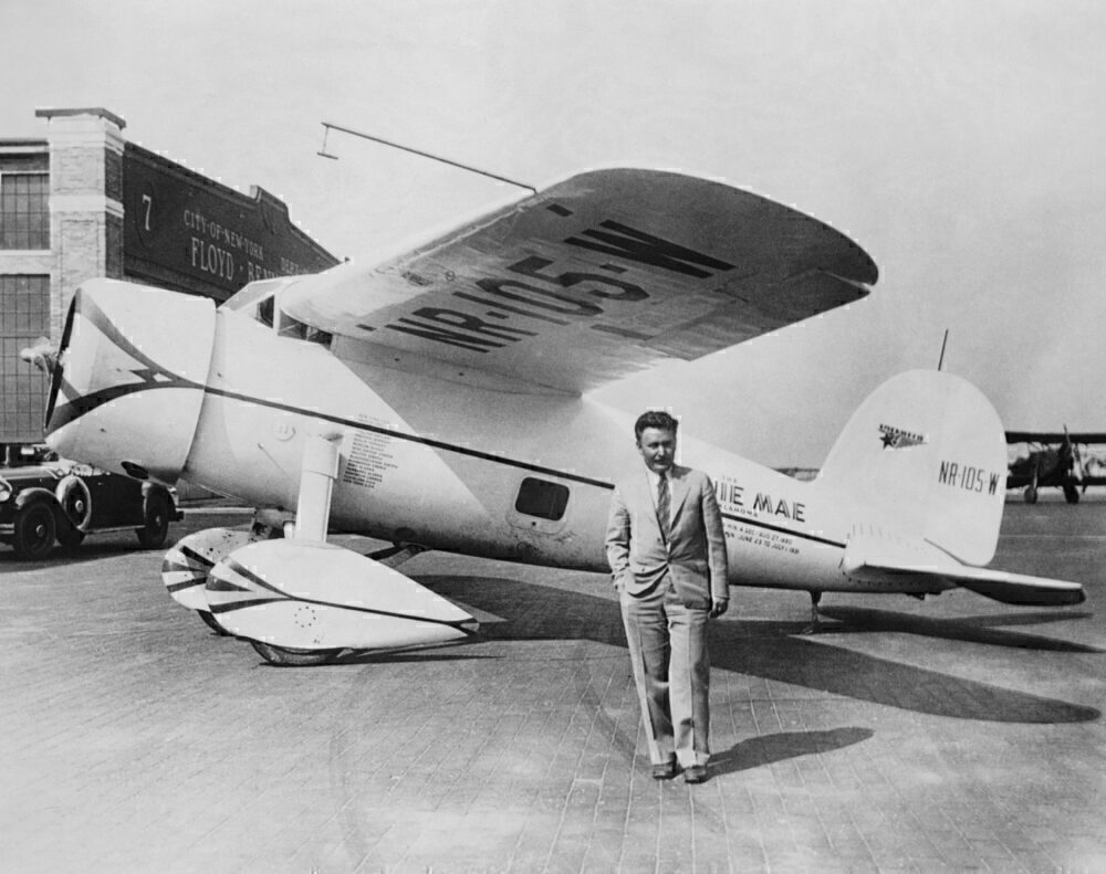 Wiley Post with his Plane